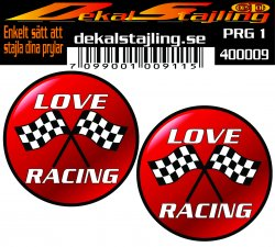 Love racing dekal
